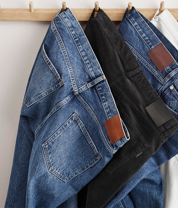 With a range of fits and finishes GANT denim jeans will be your new wardrobe favourite.