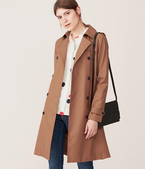 Women's Technical Wool Trench Coat