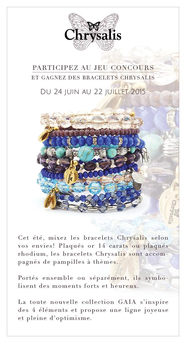 26.06 Chrysalis /  5 lots composés de 3 bracelets issus de la ligne GAIA à gagner DLP: 22/07/2015 856a66d9-5b0e-4452-bfc6-fb6a61893fd4