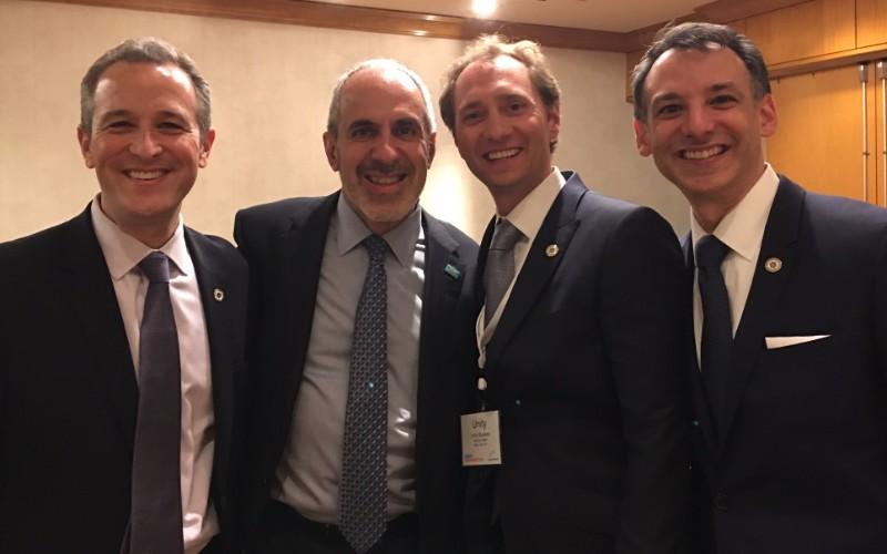 Steve Krein, Greg Simon, executive director of the White House Cancer Moonshot Task Force, Unity Stoakes, Howard Krein (left to right)