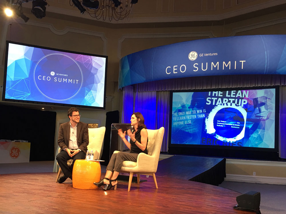 Vice Chair of GE Beth Comstock & Eric Reis, author of The Lean Startup