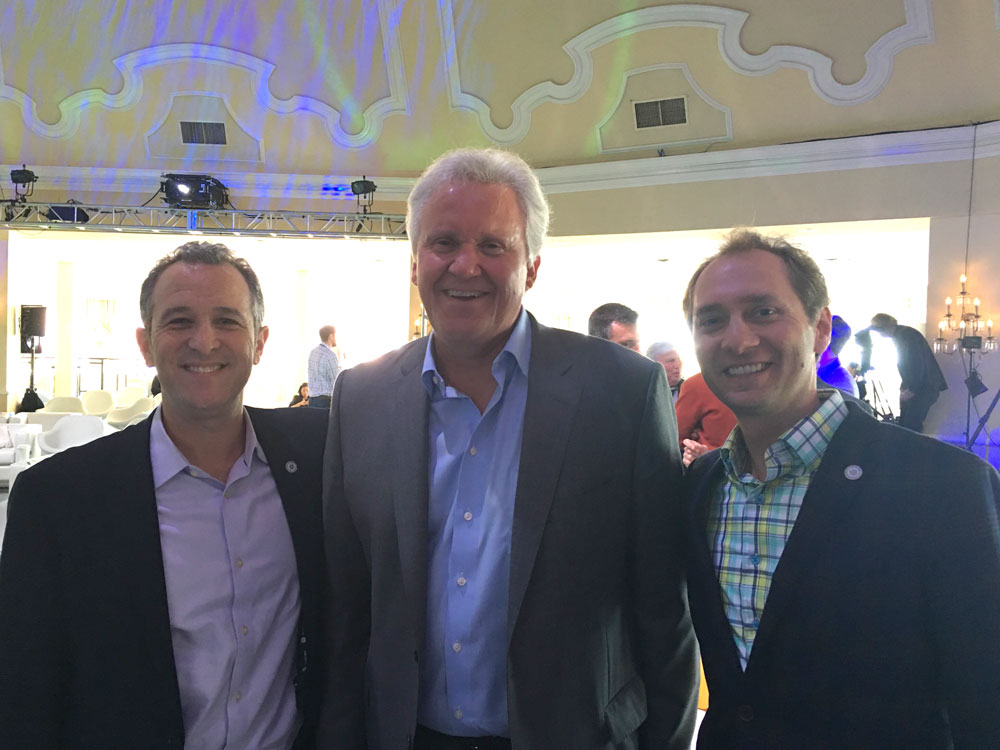 StartUp Health Co-founders Steven Krein & Unity Stoakes with Jeff Immelt, CEO of GE