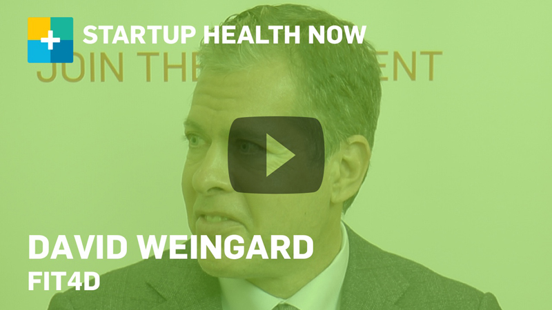 David Weingard, Fit4D, on StartUp Health Now