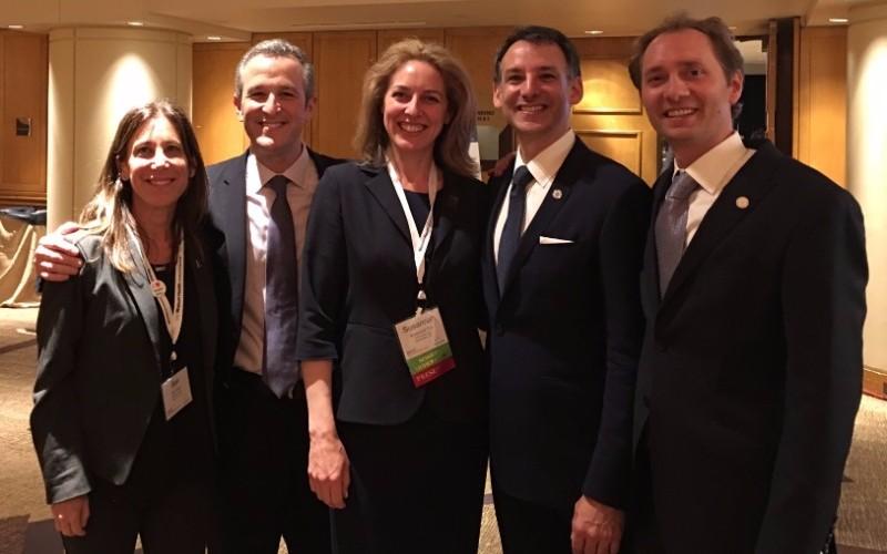 StartUp Health's Bari Krein, Steve Krein, Howard Krein & Unity Stoakes pictured with Susannah Fox, CTO at HHS (center)