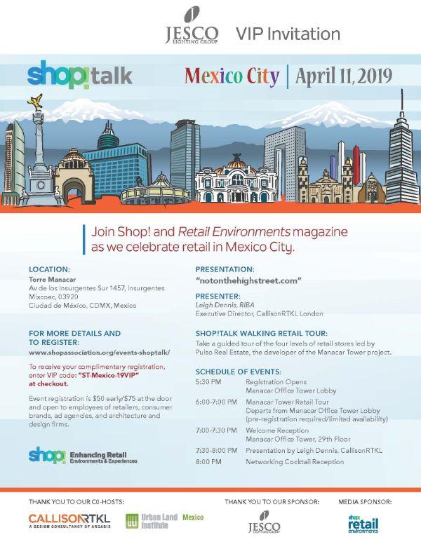 JESCO VIP Invite for Shop!Talk Mexico City