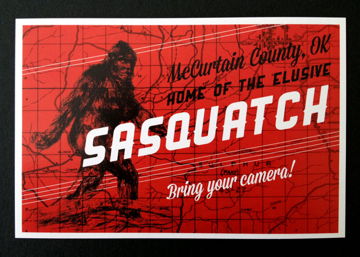 McCurtain County, OK home of the elusive Sasquatch postcard