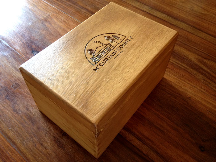 McCurtain County laser cut wooden box