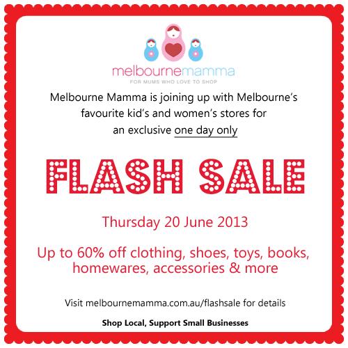 Melbourne Mammas One Day FLASH Sale
