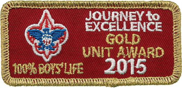 Journey to Excellence Gold Unit Award 2015