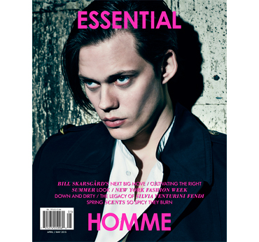 Essential Homme. Actor Bill Skarsgård stars on the cover of Essential Homme's April/May 2015 issue.