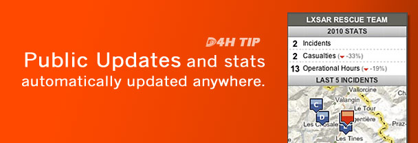 Public Updates and Stats Automatically Updated Anywhere