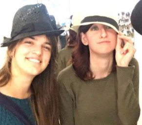 R&DWA Alumni, Annalena  and Mary Ann sporting the latest hat styles