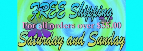 Free Shipping this weekend