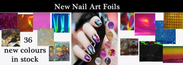 New Nail Art foils - 36 new colours
