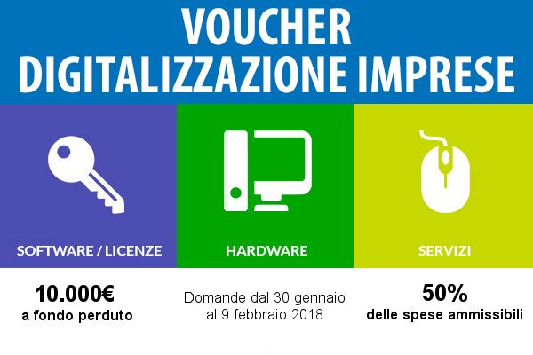 Voucher per la digitalizzazione delle PMI – 2018