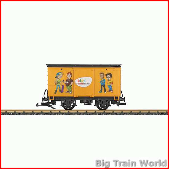 "LGB 94268 - TT Güterwagen ""Kids"" - Bouwvak aanbieding"