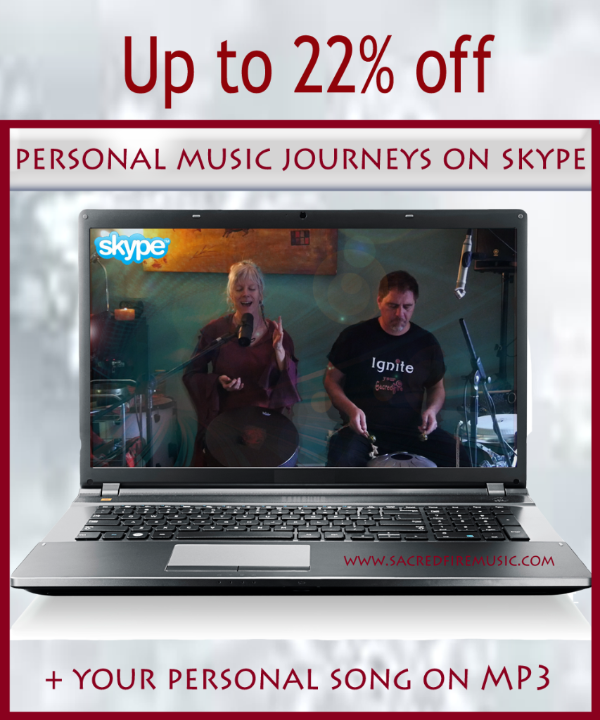 Specially priced Skype Online Journeys with SacredFire