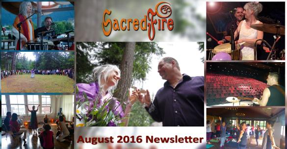 SacredFire August 2016 Newsletter