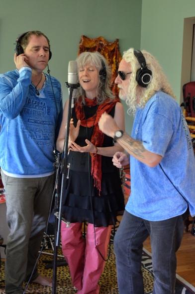 Dean, MJ and davidji recording CD
