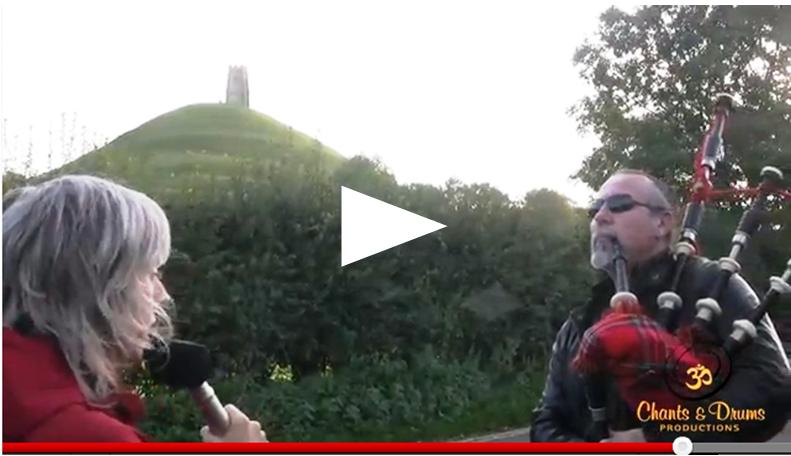Video MJ Dean and Finn Hagen bagpiper in Glastonbury
