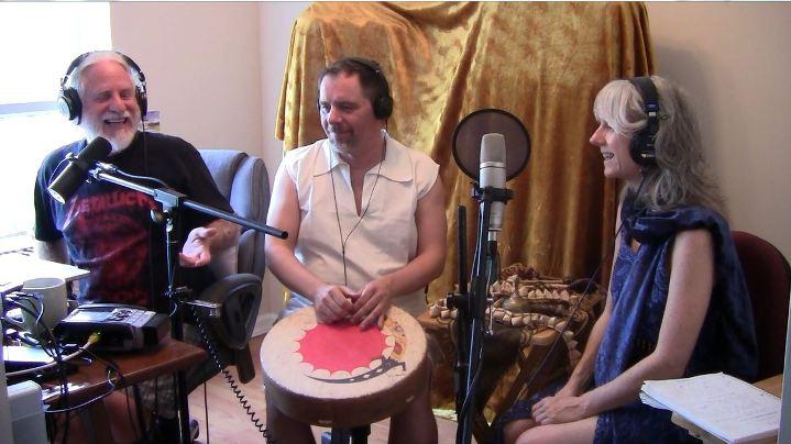 SacredFire with davidji, recording live Hay House Radio Show