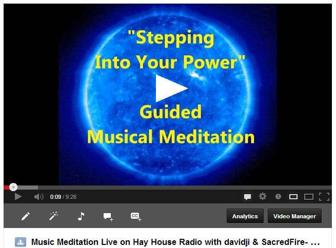 davidji and SacredFire Musical Meditation recorded live on Hay House Radio