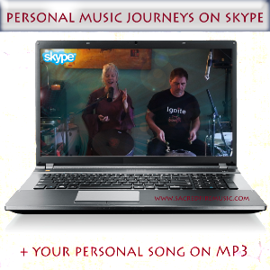 Personal music journeys on Skype with SacredFire
