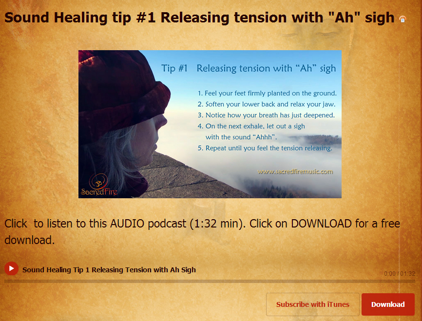 Click for our Sound Healing Tips blog