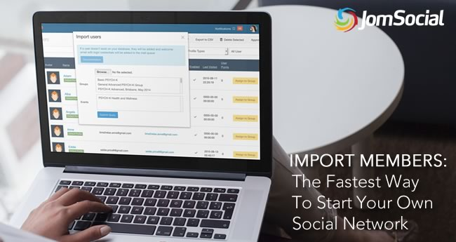 import members into jomsocial