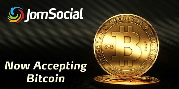 JomSocial Now Accepts Bitcoin