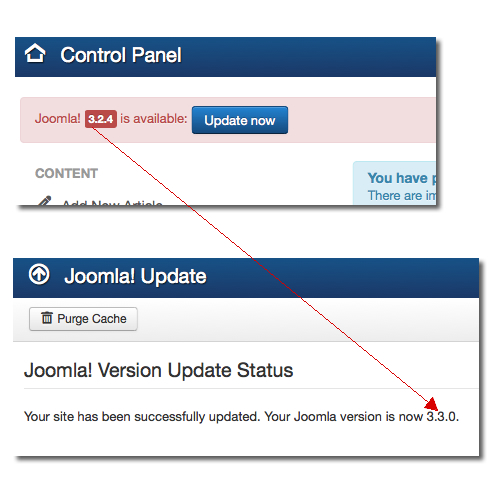 Joomla upgrades to the wrong version