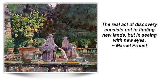 Sargent-Villa di Marlia, Lucca A Fountain-1910 Museum of Fine Arts, Boston, Hayden Collection