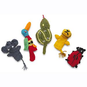 Kenana Knitter Critters Finger Puppets w/Lion