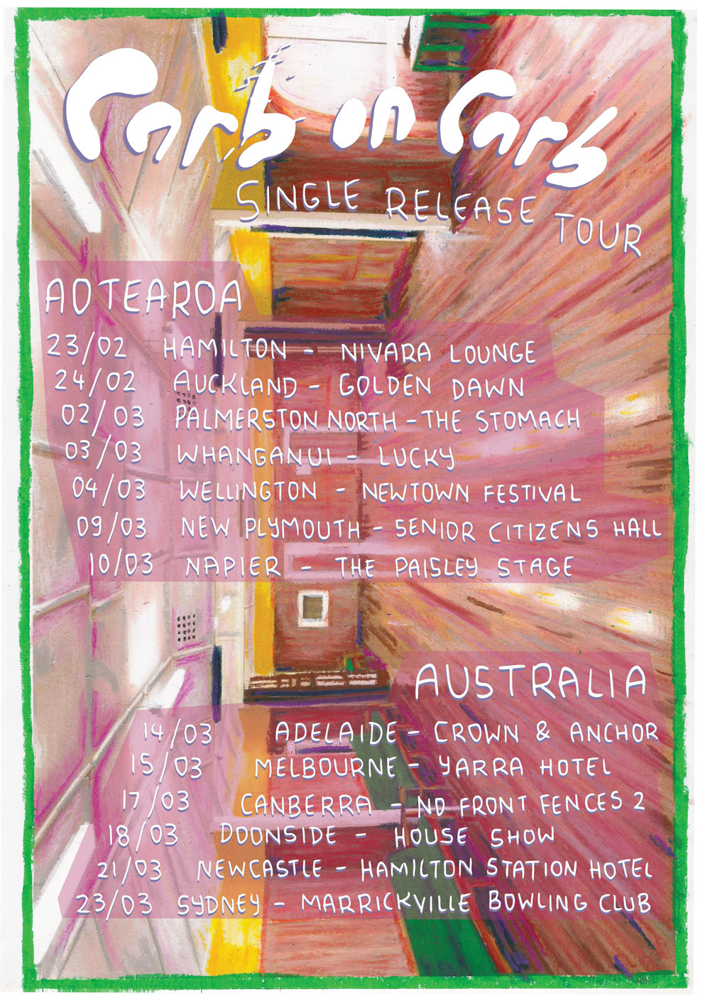 Carb on Carb Single Release Tour Poster