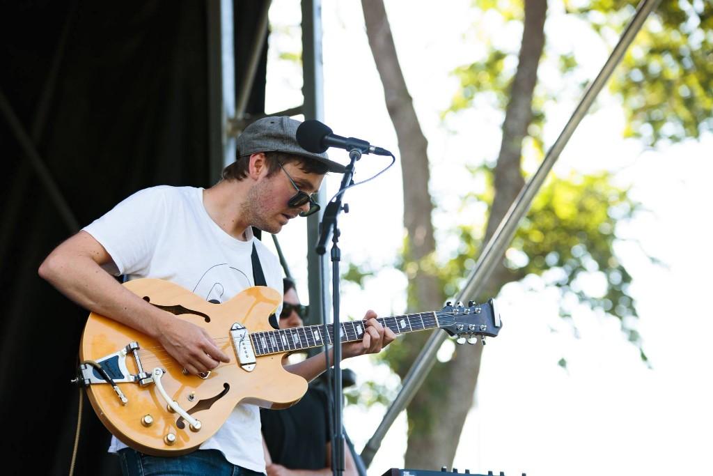 Grayson Gilmour performing at Memorial Park