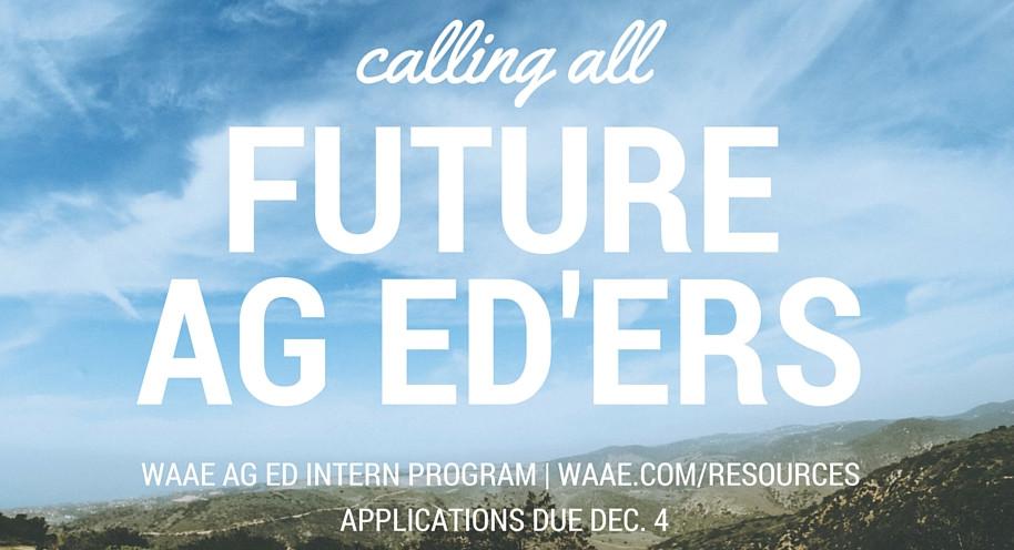 Calling all future ag educators graphic