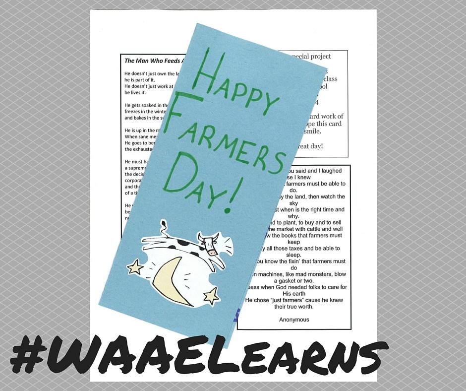 WAAE Learns Happy Farmers Day