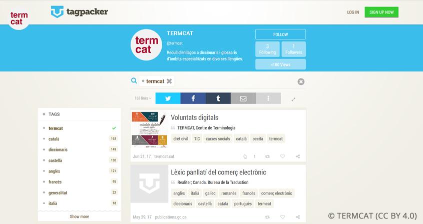 Nova eina per a compartir els recursos web terminològics més interessants