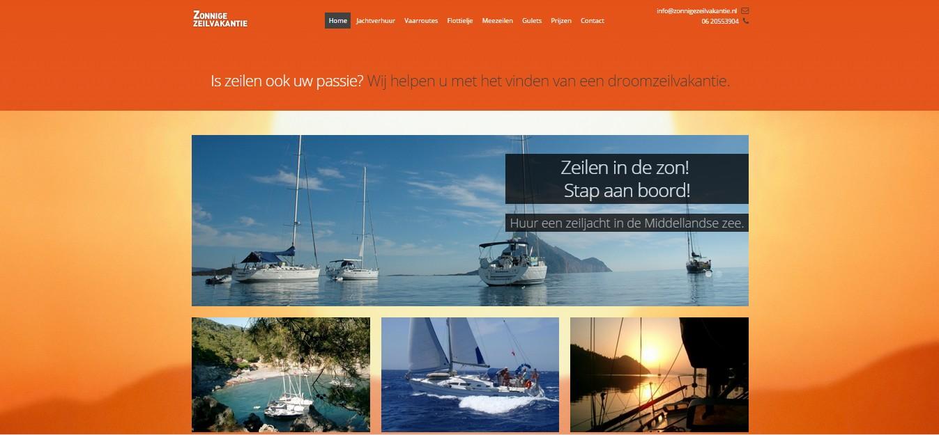 website zonnigezeilvakantie.nl