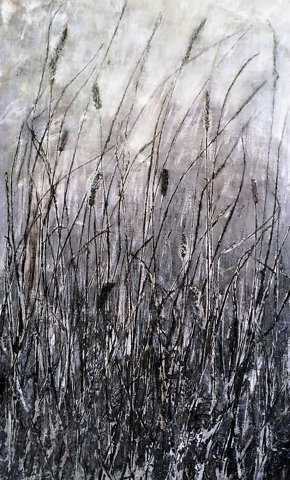 """Monochrome Oak Savanna"" 30"" x 20"" $600   ©Linda Snouffer, Botanical Printmaker        Lindasnouffer.com"