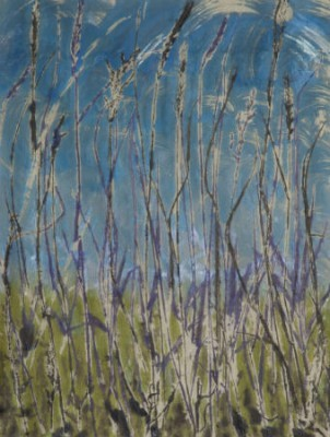 """Into the Blue"" ©Linda Snouffer, Botanical Printmaker 20"" x 15""  $450"