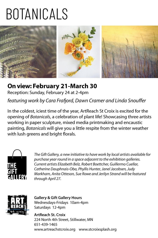 """Botanicals""  group show at ArtReach St. Croix"