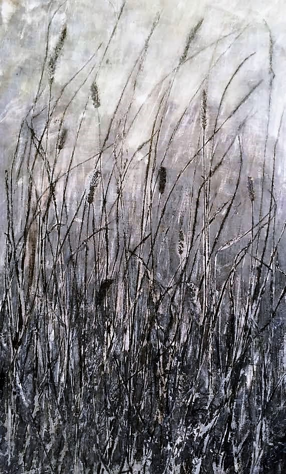 """Monochrome Oak Savanna"" ©Linda Snouffer, Botanical Printmaker 30"" x 20"" $600"