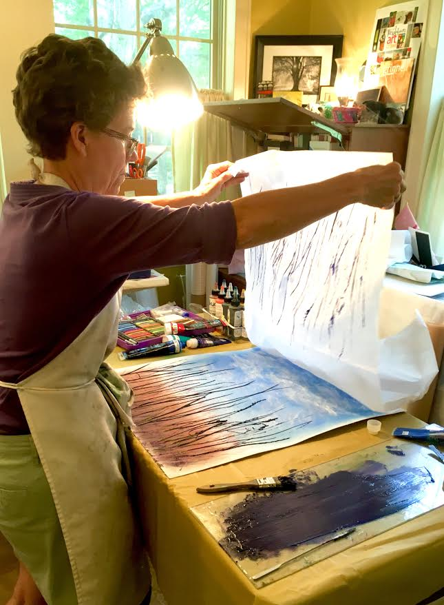 studio time Linda Snouffer, Botanical Printmaker