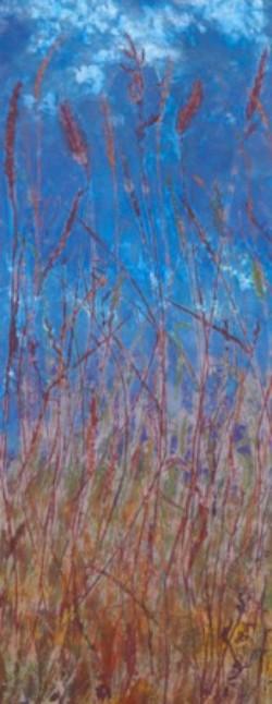 """Stormy Sky,"" ©Linda Snouffer, Botanical Printmaker 31"" x 11""  $600"