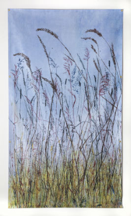 """Along the Boulevards"" 32"" x 22""  $750 ©Linda Snouffer, Botanical Printmaker"