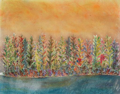 """Shoreline""  16"" x 20""  $495  ©Linda Snouffer, Botanical Printmaker        Lindasnouffer.com"