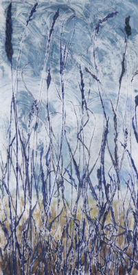"""October Wind,"" 31"" x 16"" $600 ©Linda Snouffer, Botanical Printmaker        Lindasnouffer.com"