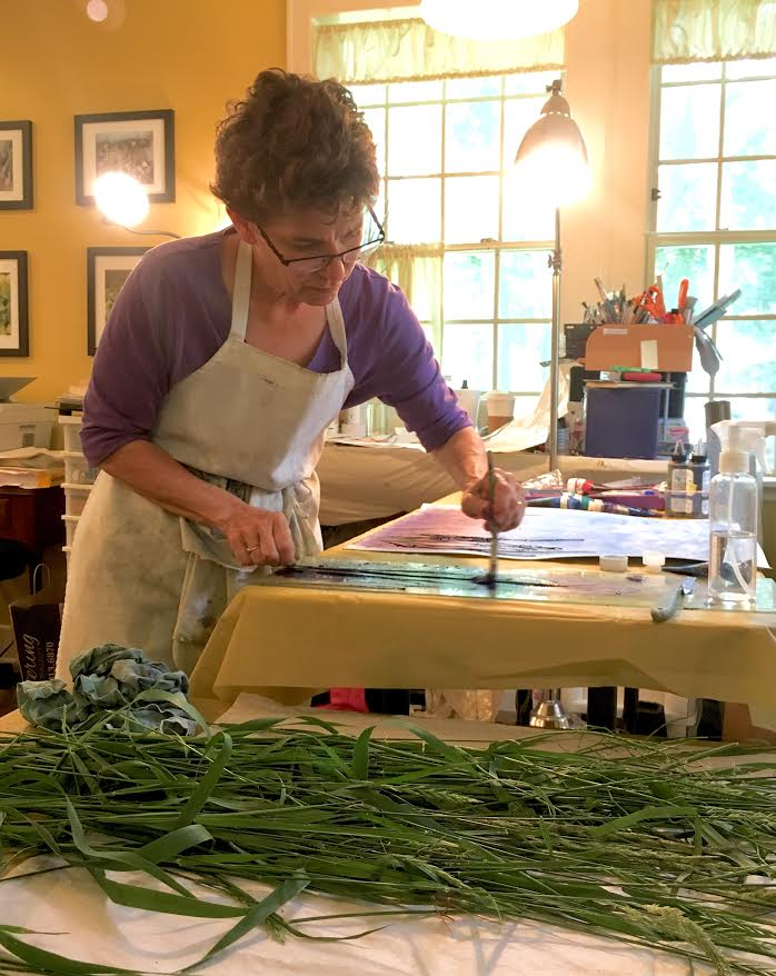 Studio time with Linda Snouffer, Botanical Printmaker