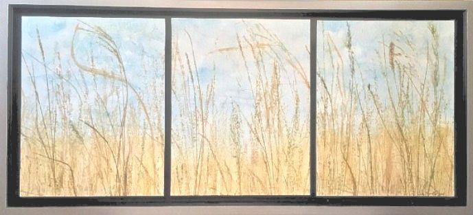 """Along the Highway,"" 17"" x 37"" $250  ©Linda Snouffer, Botanical Printmaker        Lindasnouffer.com"
